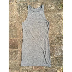 H&M marled grey high neck bodycon dress (S)